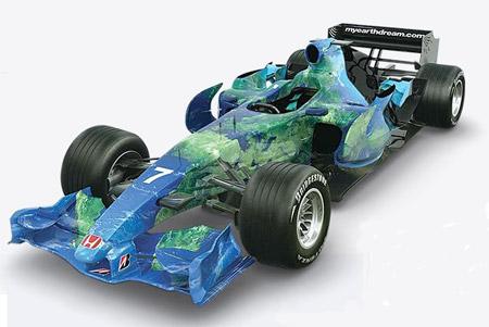 El Honda F1 y su llamativa decoración