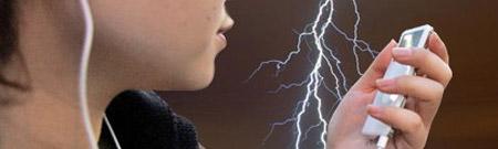 Peligro! Un iPod bajo una tormenta
