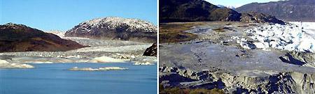 El lago chileno antes y después