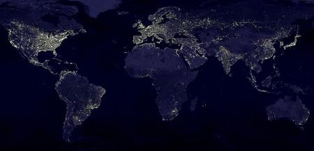 Visión nocturna de nuestro planeta - click para ampliar la imagen
