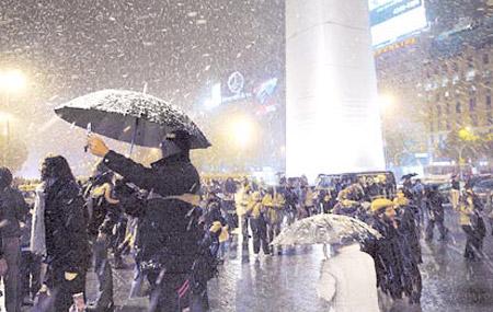 Nieve en el Obelisco