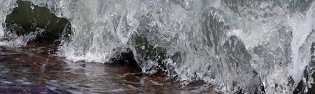 Olas de hielo en las costas canadienses