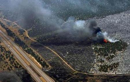 Incendio forestal en Utah
