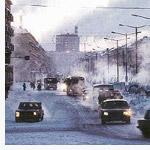 Nieve negra en Norilsk (Rusia)
