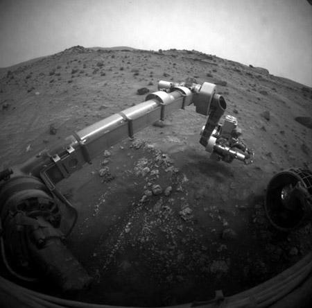 Brazo robótico del rover Spirit