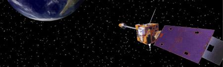 Satélite GOES orbitando la Tierra