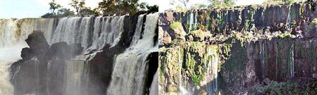 Cataratas del Iguazú, con y sin agua
