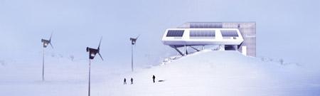 Panorama de la nueva base antártica 'Princess Elisabeth'