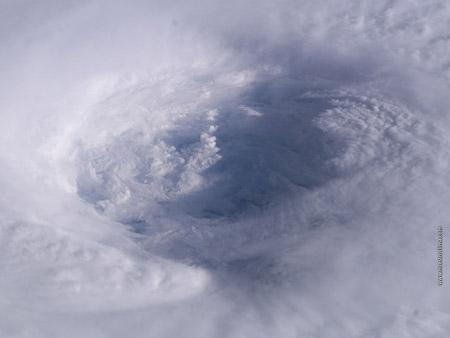 Ojo del huracán Isabel