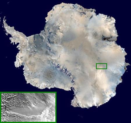Lago subterráneo en la Antártida