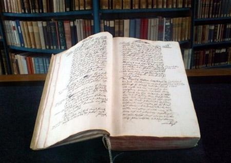 Manuscrito del monasterio de Einsiedeln consignando los datos del tiempo