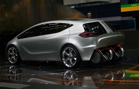 Carga del Segway PT en el Opel Flextreme