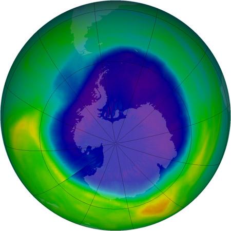 Agujero de ozono - Tamaño máximo de 2007