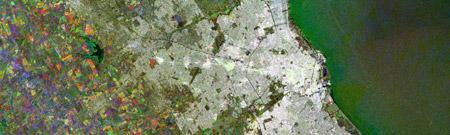 Imagen satelital nocturna de Buenos Aires