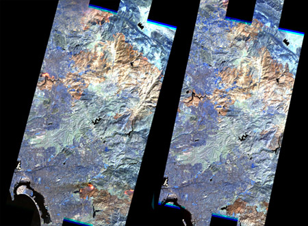Incendios en California - Imágenes del satélite EO-1