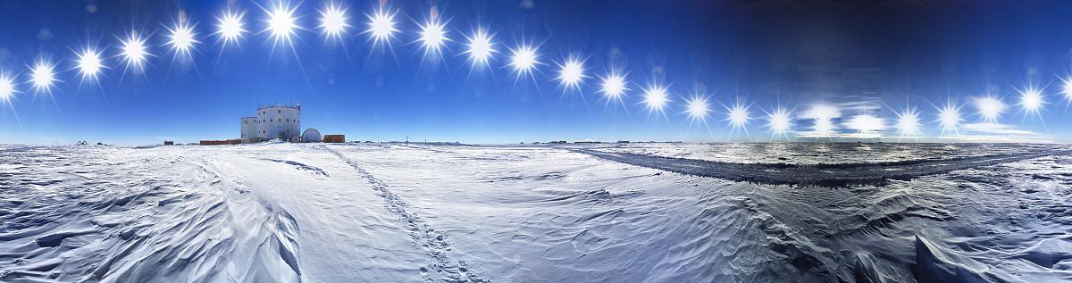 Trayectoria solar de 24 horas en la Antártida (click para ampliar)