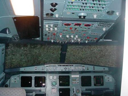 Airbus A320 con impactos de granizo