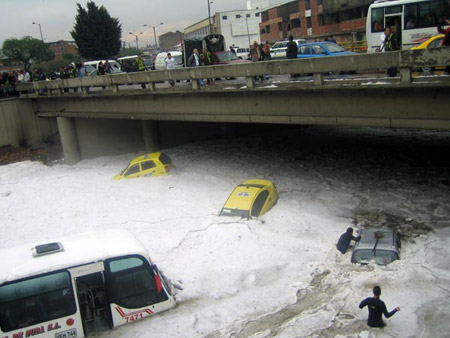 Granizo en Bogotá, Colombia