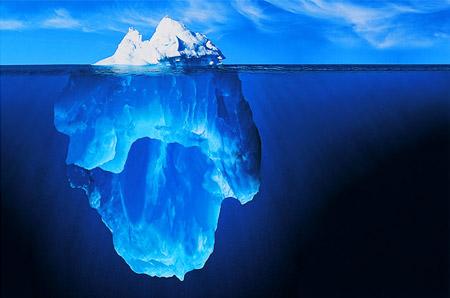 La falsa foto del iceberg - Click para ver la imagen a mayor resolución