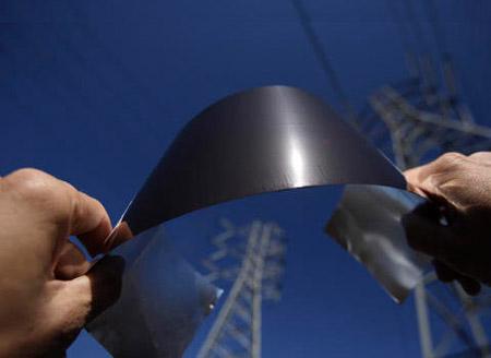 Lámina solar ultradelgada Nanosolar