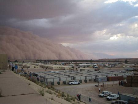 Tormenta de arena en Irak