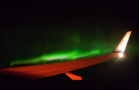 Auroras desde el aire