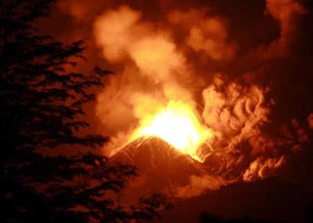 Erupción del volcán Llaima, enero de 2008