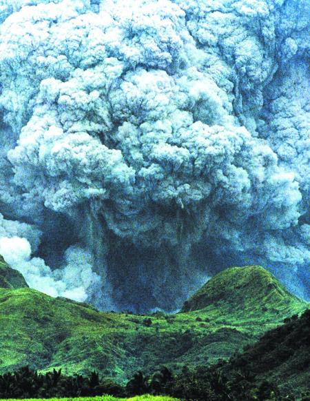 Erupción del volcán Pinatubo, Filipinas, 1991