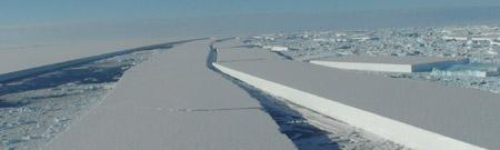 Ruptura de la Barrera de Wilkins en la Antártida Argentina