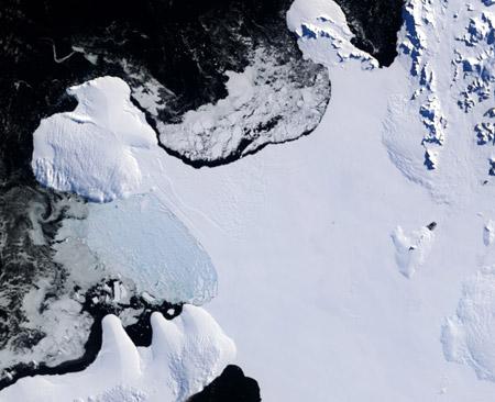 Barrera de Wilkins, 17 de marzo de 2008 - Click para ampliar