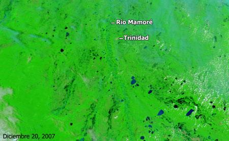 Cuenca del río Mamoré, Bolivia - Diciembre de 2007 - Click para ampliar
