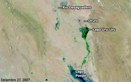 Cuenca del río Desaguadero, Bolivia - Diciembre de 2007 - Click para ampliar