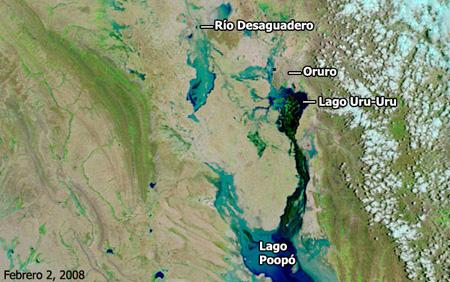 Cuenca del río Desaguadero, Bolivia - Febrero de 2008 - Click para ampliar