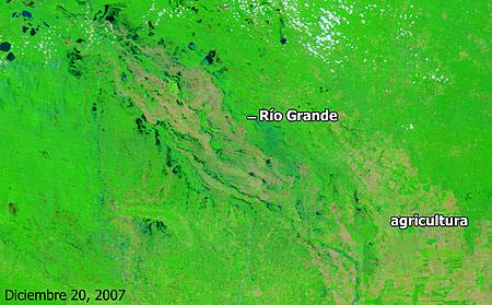 Cuenca del río Grande, Bolivia - Diciembre de 2007 - Click para ampliar