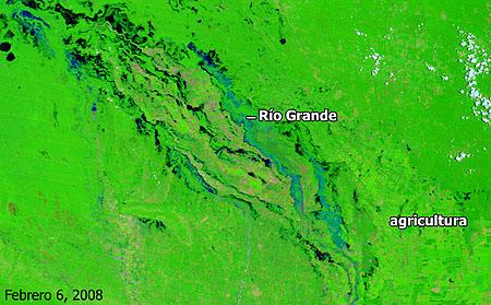 Cuenca del río Grande, Bolivia - Febrero de 2008 - Click para ampliar