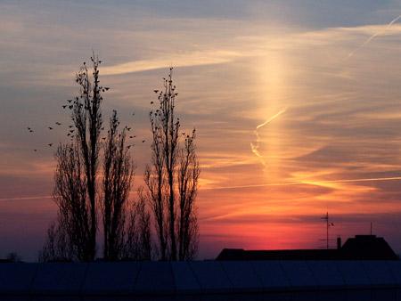 Columna de sol en Berlín, Alemania - Foto: M Kuhn