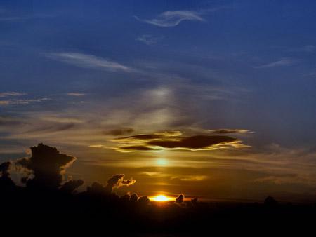 Columna de sol en Wadebridge, Inglaterra - Foto: Barry Ennor