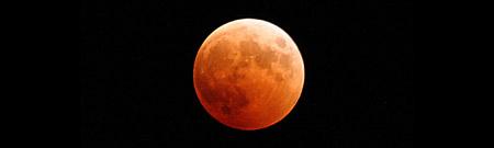El eclipse lunar, visto desde el espacio