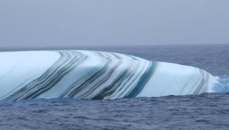 Iceberg estriado - acercamiento