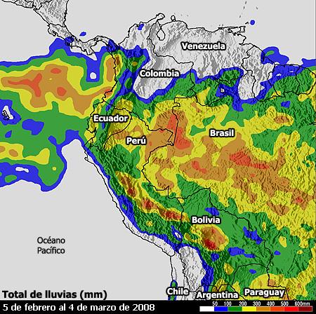 Mapa de lluvias