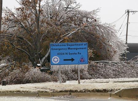 Helada en Oklahoma, diciembre de 2007