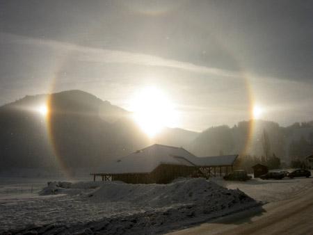 Los Tres Soles - Imagen tomada en los Alpes franceses