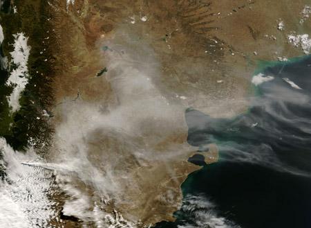 Imágenes satelitales: erupción del volcán Chaitén (Chile)