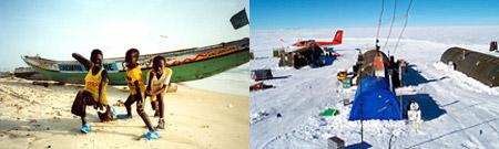 Saint-Louis, Senegal - Estación Vostok, Antártida