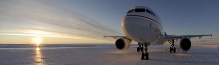 Aterrizando un Airbus sobre el hielo antártico