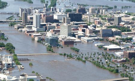 Inundaciones en Iowa, Estados Unidos
