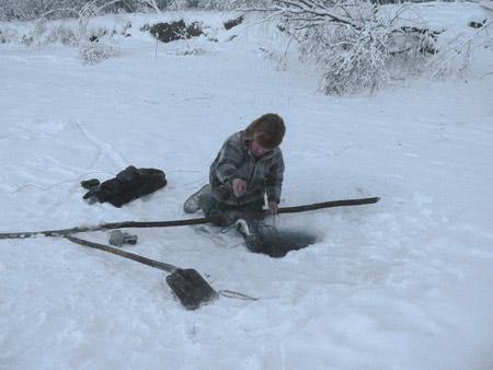 Pesca en Oymyakon, Siberia