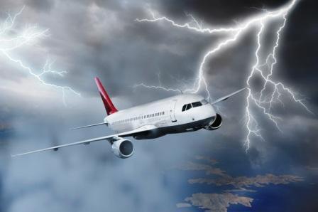 avion con rayos