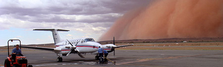 Tormenta de arena en Broken Hill, Australia