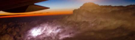 Tormentas eléctricas desde el aire